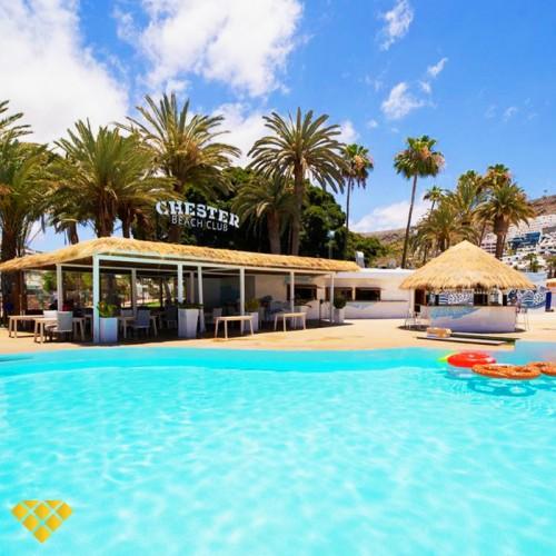 DayPass Hamaca Doble, en Chester Beach Club