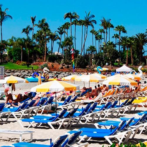 2 hamacas, 1 sombrilla y banana 2 personas. Playa de Anfi, Gran Canaria