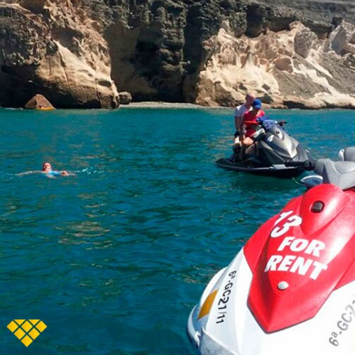 Vip Tour en Moto de agua para 2 por la costa de Mogán 3 horas