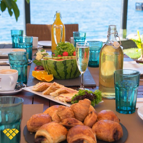 Breakfast Buffet by the Sea + Hammock in Maroa